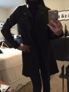 Women's wool coat with faux leather sleeves Cambridge Kitchener Area image 3