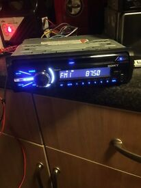 Sony mp3 usb aux in blue cd player £30 can fit £5