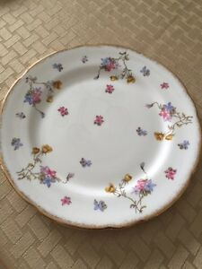 Bone China....Violets Pompadour.... three pieces