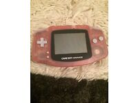 Pink Nintendo advance Gameboy