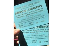 2 tickets to Tonna male voice choir concert tonight!