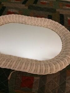 Wicker framed mirror