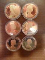 6 monnaie canadienne or 22 K 101,8 Gram mint ou 5,4,3,2,1 monnai