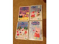 Peppa pig DVD bundle - Christmas show / bubbles / birthday party / cold winter day