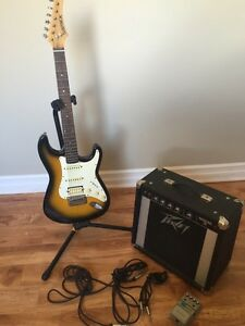 Samick electric guitar and Peavey Amp
