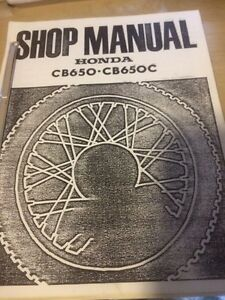 1979 Honda CB650 C Shop Manual