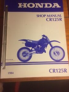 1984 Honda CR125R Shop Manual