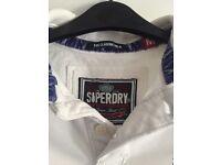 Superdry white polo shirt size medium