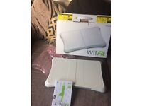 Wii fit board and game