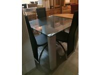 Glass square table new