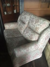 Floral two seater sofa good condition