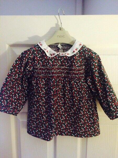 Jo Jo Maman Bebe Peter Pan floral blouse