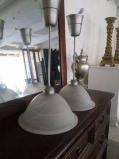 Pair of industrial style ceiling lights Crafers Adelaide Hills Preview