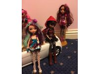Dolls and car ever after high