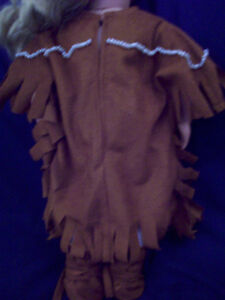 American Girl-sized Doll Clothes: Faux Suede Native Dress Windsor Region Ontario image 4