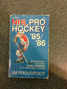 Book by Jim Proudfoot previews the '85-'86 NHL season