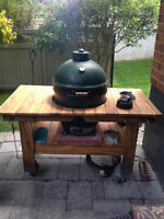 Rolling stand and cover for large Big Green Egg