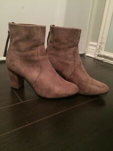 Size 9.5 Faux  Suede Booties