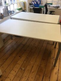 13 x great quality white desks on clearance @ just £35 each