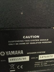 High power Yamaha professional speakers