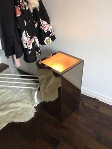 Mirrored lamp / side tables  Kitchener / Waterloo Kitchener Area image 4