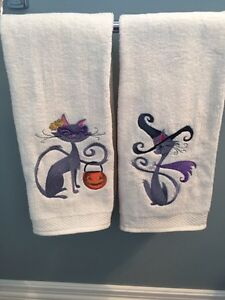 New Embroidered Halloween Hand Towels - Personalize them! Kitchener / Waterloo Kitchener Area image 3