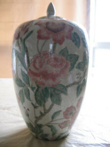 DECORATIVE CERAMIC GINGER JAR- 12""