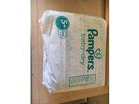 Pampers size 5+ nappies x33