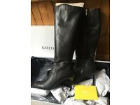 ⭐️KAREN MILLEN leather high heel boots size 6⭐️