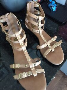 Ladies leather sandals- size 9.5