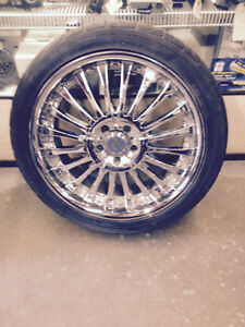 "AFTERMARKET 20"" 5 LUG 120mm BOLT PATTERN WITH RUBBER"