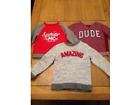 Set of 3 boys jumper collection age 3-4 years