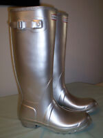 Ladies Silver Hunter boots