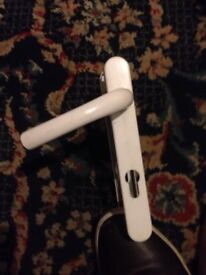 White Double Glazed Door Handles Good Condition Can Deliver Locally for £5