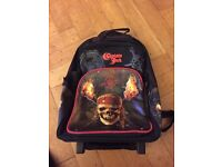 Pirates of the Caribbean rucksack on wheels