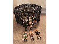 WWE Elimination Chamber & 6 WWE wrestlers