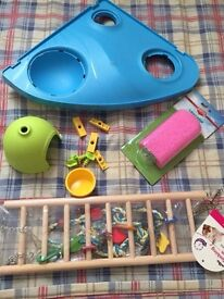 Large hamster cage with toys new