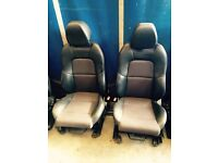 Ford Fiesta Ztec s half leather cloth seats (2005 plate )