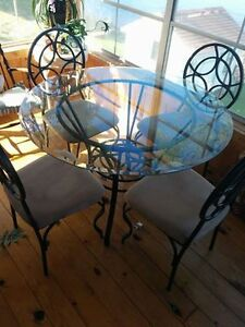 Lucianna glass table and chairs
