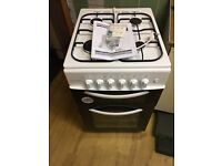 Cookworks CGT50W Twin Gas Cooker - White