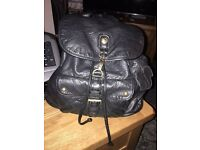 Real leather retro backpack/rucksack bag by mantaray