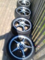 Four 17 Inch Five Star Rims ( Four Bolt Universal )