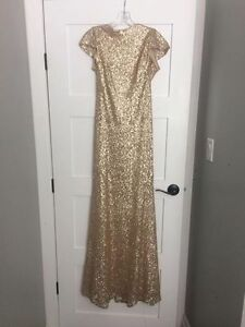 Sorella Vita Gold Sequence Gown