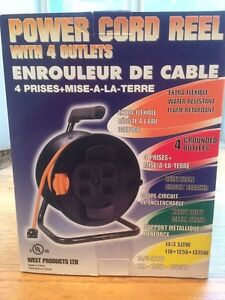 Power Cord Reel with 60' extension cord