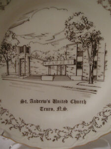 VINTAGE CHINA CHURCH PLATE ST. ANDREW'S UNITED CHURCH TRURO NS