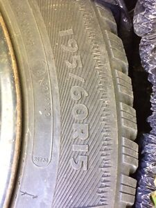 195/60R15 Studded winter tires on rims