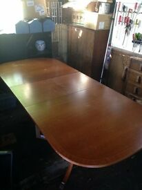 Solid wood dining table and chairs (offers welcome)