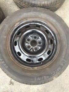 205-65-15 michelin destiny tires and rims 5x100