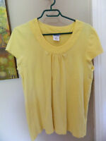 Midtown Womens Yellow Tunic Top Size XL Stretch Cotton Blend