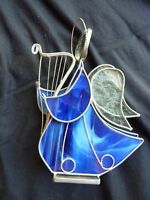 Blue Stain Glass Angel